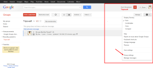 Tripo soft   Google Groups settings