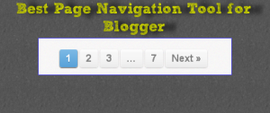 Best Page Navigation Tool for Blogger from Triposoft