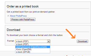 How to Download Wikipedia Article in eBook Format?