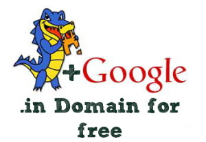 Free .in Domain from Google/HostGator