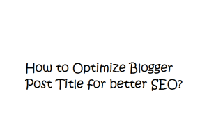 Hi friends after along time now I am going to share few tips for you.Here is an new tips for blogger.This tip can optimize your Blogger post title.This plays an important role for your blog SEO.Heading are most important things which many of us ignore.But now a days Search Engines are giving most priority to headings and other SEO Optimization.If you are using blogger then your post title tag are h3.You can able to see in this site labnol.org which is an word press hosted.You will find that there post title are in h1 tag which is most accepting heading tag by search engines.Blogger templates like 'Simple', Travel' etc. have h1 tag as it's Blog title and h3 tag as post title, which is not good for SEO.If your blog is having h1 tag as post title then there are more chances of your blog to appear top on Search Engines result.So  I decied to write an article about optimizing your blog title for better SEO.Just follow my simple instruction,   How to Optimize Blogger Post Title?  Step 1  First go to Blogger>Dashboard Now click the Template which was placed left to you Then Click the Edit HTML > Proceed Then you can able to find the following bellow given code   <h3 class='post-title entry-title'>       <b:if cond='data:post.link'>         <a expr:href='data:post.link'><data:post.title/></a>       <b:else/>         <b:if cond='data:post.url'>           <b:if cond='data:blog.url != data:post.url'>             <a expr:href='data:post.url'><data:post.title/></a>           <b:else/>             <data:post.title/>           </b:if>         <b:else/>           <data:post.title/>         </b:if>       </b:if> Now you want o change the h3 with h1 tag. Save it.   Step 2   Now you want to find the bellow given code again,  <h1 class='site-title' style='background: transparent; border-width: 0px'>             <b:include name='title'/>           </h1>         </div>         <b:include name='description'/>       </div>     </b:if>   <b:else/>     <!--No header image -->     <div id='header-inner'>       <div class='titlewrapper'>         <h1 class='site-title'>           <b:include name='title'/>         </h1>  Now change all the h1 tag into h2. And save it Enjoy!   This trick will help you to optimize SEO for your blog.Please say your feed back thorugh our bellow given comment box.If you like this article please share this with your friends and subsribe to get many new free tips and tricks for free via email when Triposoft was updated.If  you have any tips and tricks means share it with us through Guest Posting at Triposoft.com