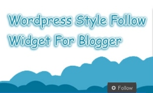 You are surprised to see that there are many features and widgets in Word press than Blogger.But it is not so.There are many features in blogger also,but we want to find it step by step only.Here is an Follow widgets from Word Press to Blogger.This is an awesome premium widget for blogger from WordPress.You can get it for your blog for free from TS Widgets.Just follow my simple instruction and add the WP Style Follow Widgets for Blogger.Lets know how?