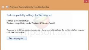 How to run Windows 7/XP programs on Windows 8 ?  If you changed the windows 7 into Windows 8 there is no problem.You have many advantage.But some programs which works on Windows XP/7 will not works on Windows 8.So I decided to write an article about how to run the Windows Xp/7 programs on Windows 8 without replacing any softwares.This way will works for very one who is using Windows 8.Just follow my simple instruction given bellow,  1. Right Click the Program which you want to install in Windows 8 and choose Troubeshoot Compatibility.   2.In the next step select the Try Recommended Settings and this will allows windows 8 to choose automaticaly the program to run.  3. Then finally select Test the program and this will install in the required windows 8 requirement and makes the program to run smoothly without any problem.   By this way you can able to run any king of softwares in Windows 8.Please say your feedback behind in our comment box if you have any doubt.
