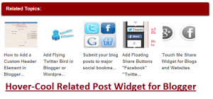 add Hover-Cool Related Post Widget for Blogger bellow blogger posts stylish