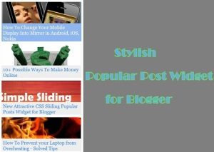 New Stylish Popular Post Widget for Blogger