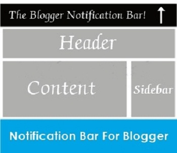 How to Add Blogger Notification Bar in Blogger