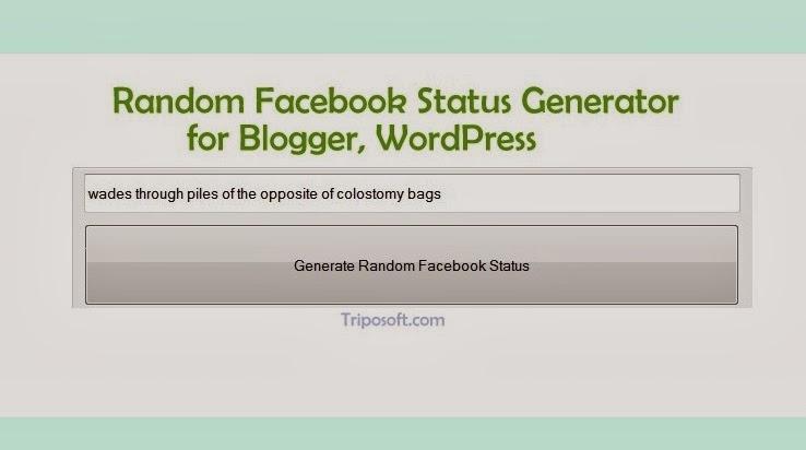 Random facebook status generator