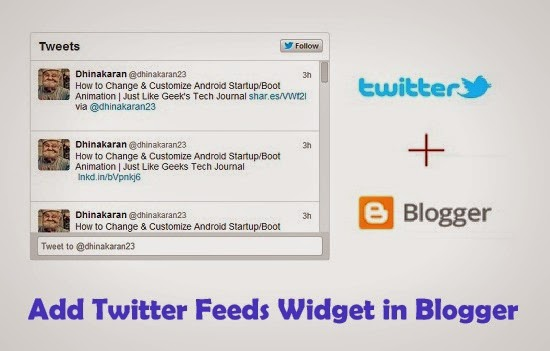 How To Add Twitter Feeds Widget on Blogger Blogs