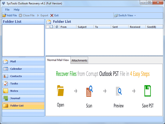 Outlook Recovery which Repairs & Recovers Encrypted Files - A Review
