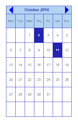insert calender in blogger posts