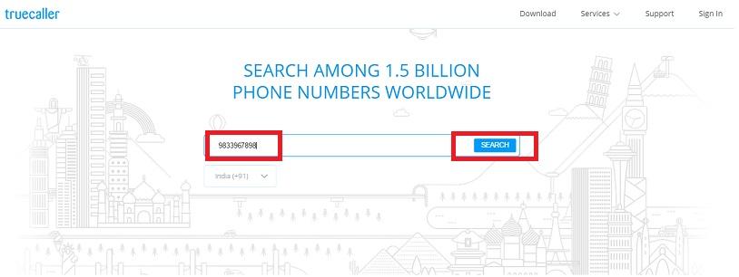 Trace mobile number via trucaller 1